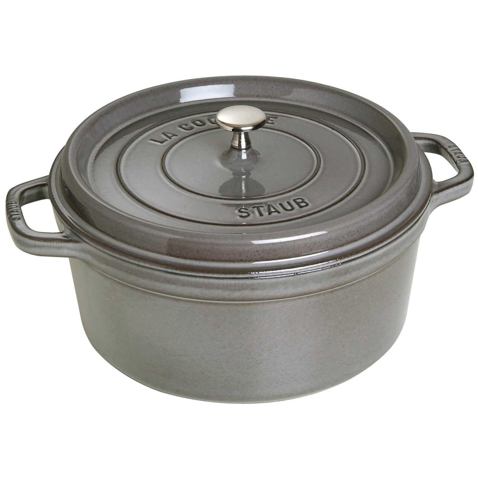 Staub Round Cocotte - Graphite Grey - 28cm