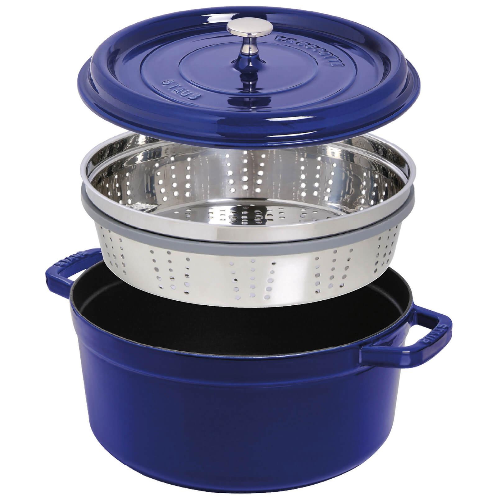 Staub Round Cocotte and Steamer - Dark Blue - 26cm