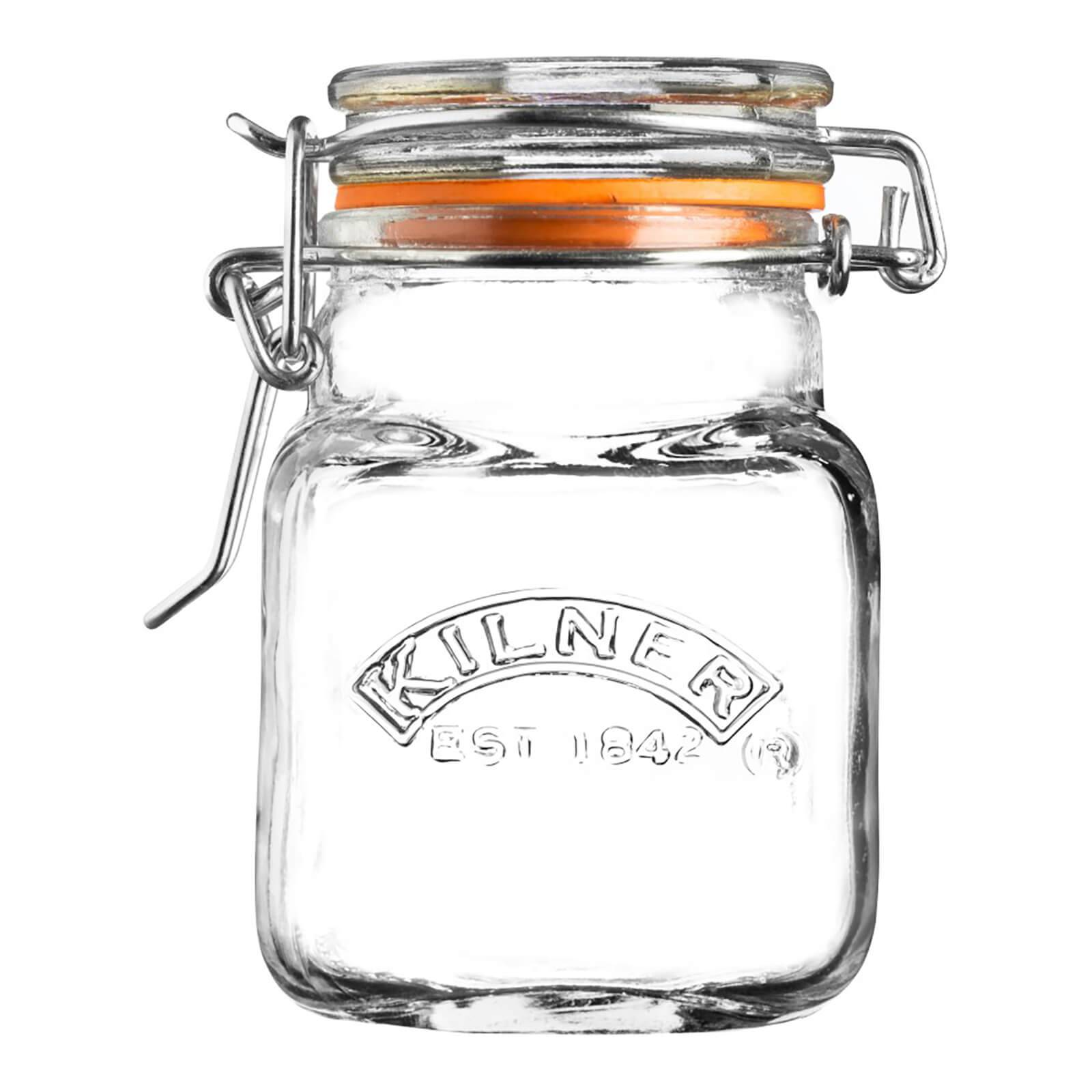 Kilner Mini Clip Top Square Jars - 70ml - Set of 12
