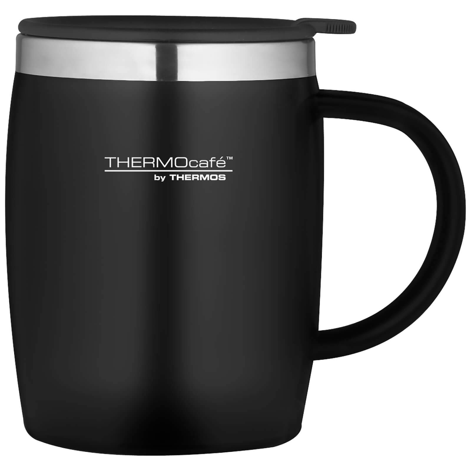 Thermos ThermoCafe Soft Touch Desk Mug - Black 450ml