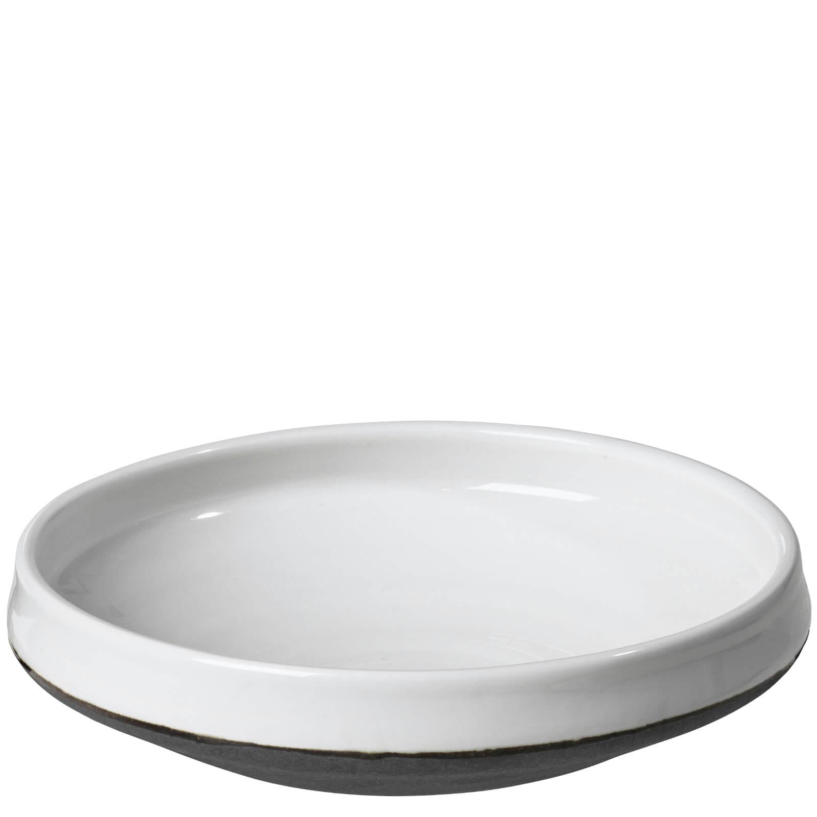 Broste Copenhagen Esrum Wide Stoneware Bowl - Ivory/Grey (Set of 6)