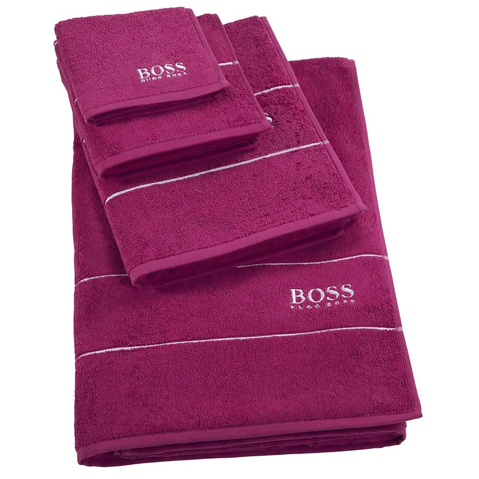 Hugo Boss Plain Towel Range - Azalea - Bath Sheet - Pink