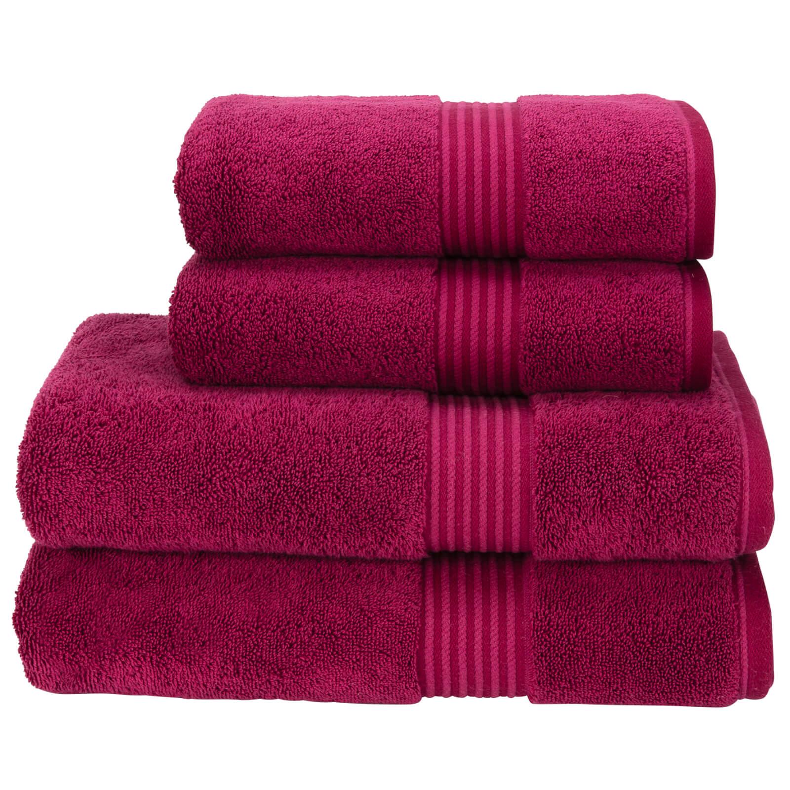 Christy Supreme Hygro Towel Range - Raspberry - Hand Towel (Set of 2) - Pink