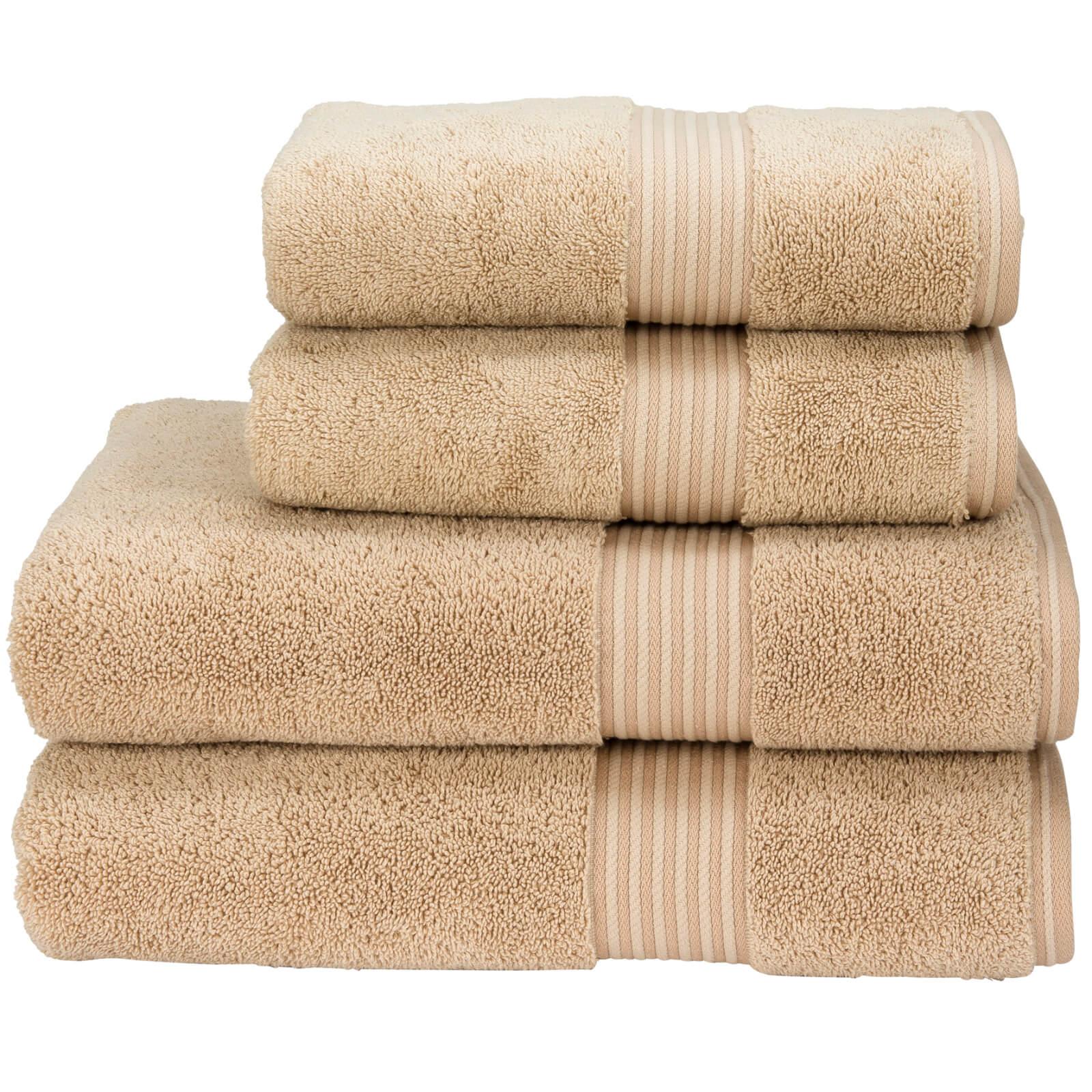 Christy Supreme Hygro Towel Range - Stone - Bath Towel (Set of 2) - Stone