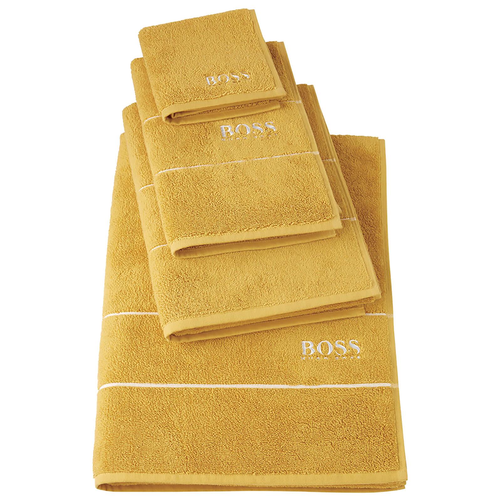Hugo Boss Plain Towels - Topaz - Bath Sheet - Yellow