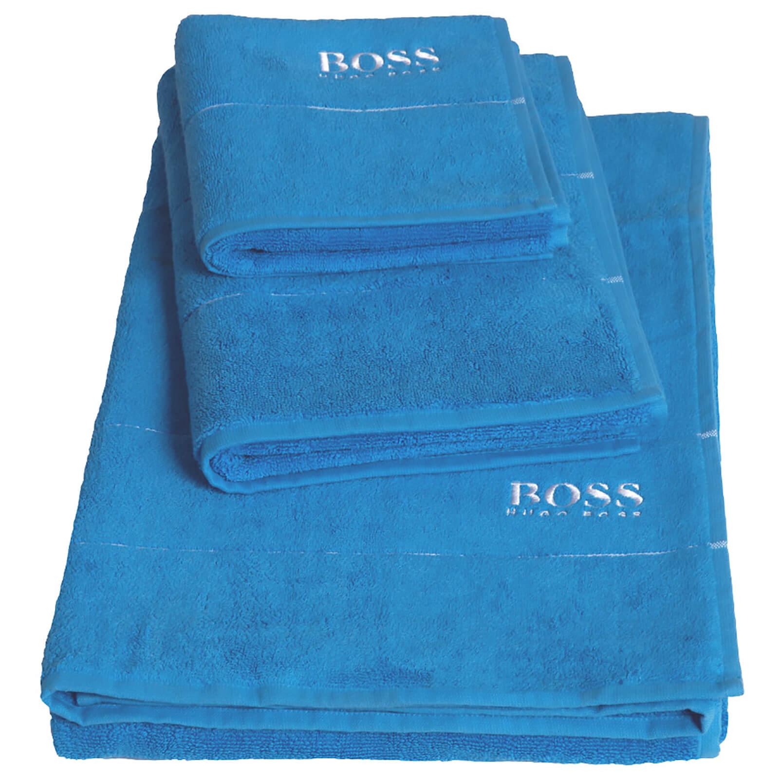 Hugo Boss Plain Towels - Pool - Bath Sheet - Blue