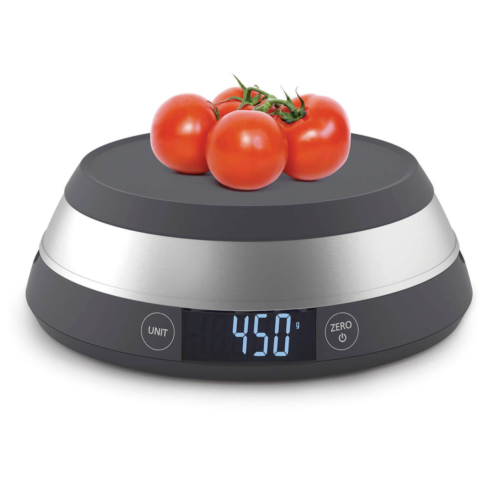 Joseph Joseph Switch Led Kitchen Scale With Removable Bowl - Grey