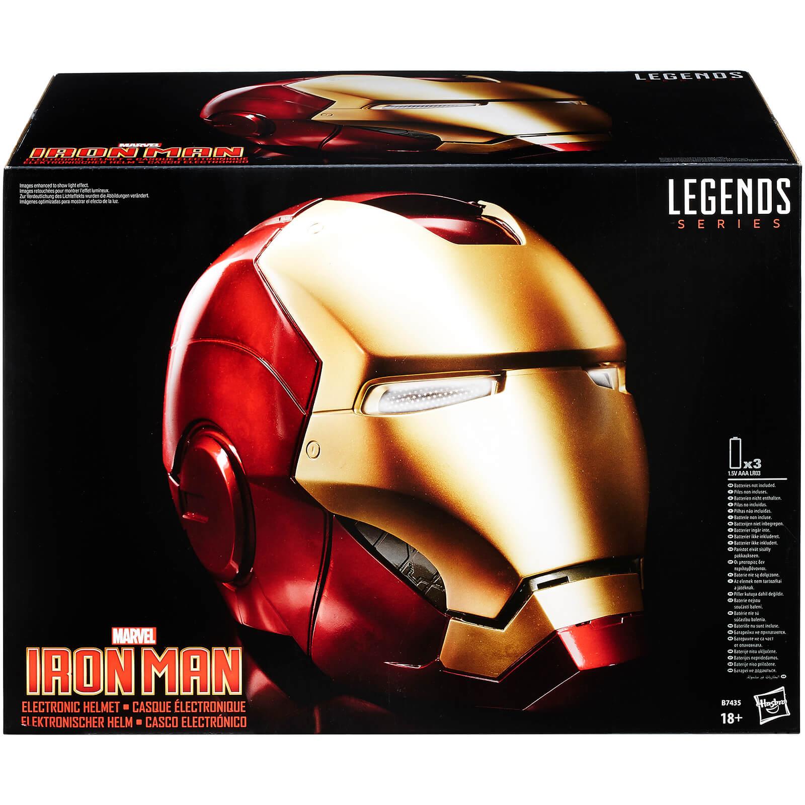 Hasbro The Avengers Marvel Legends Iron Man Electronic Helmet (Full-Scale Size)