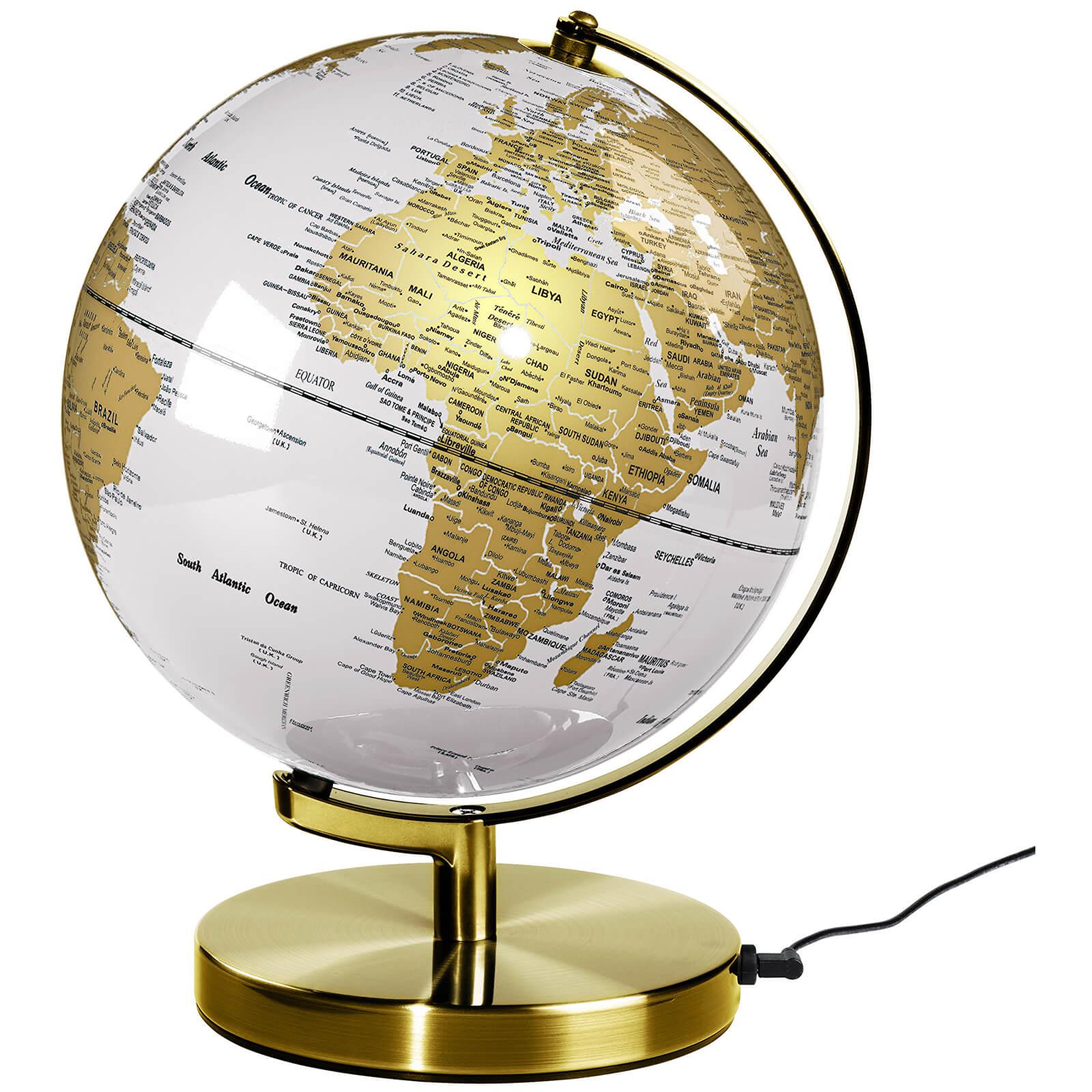 Wild Wood 10 Inch Globe Light - Metallic Brass/Arctic White