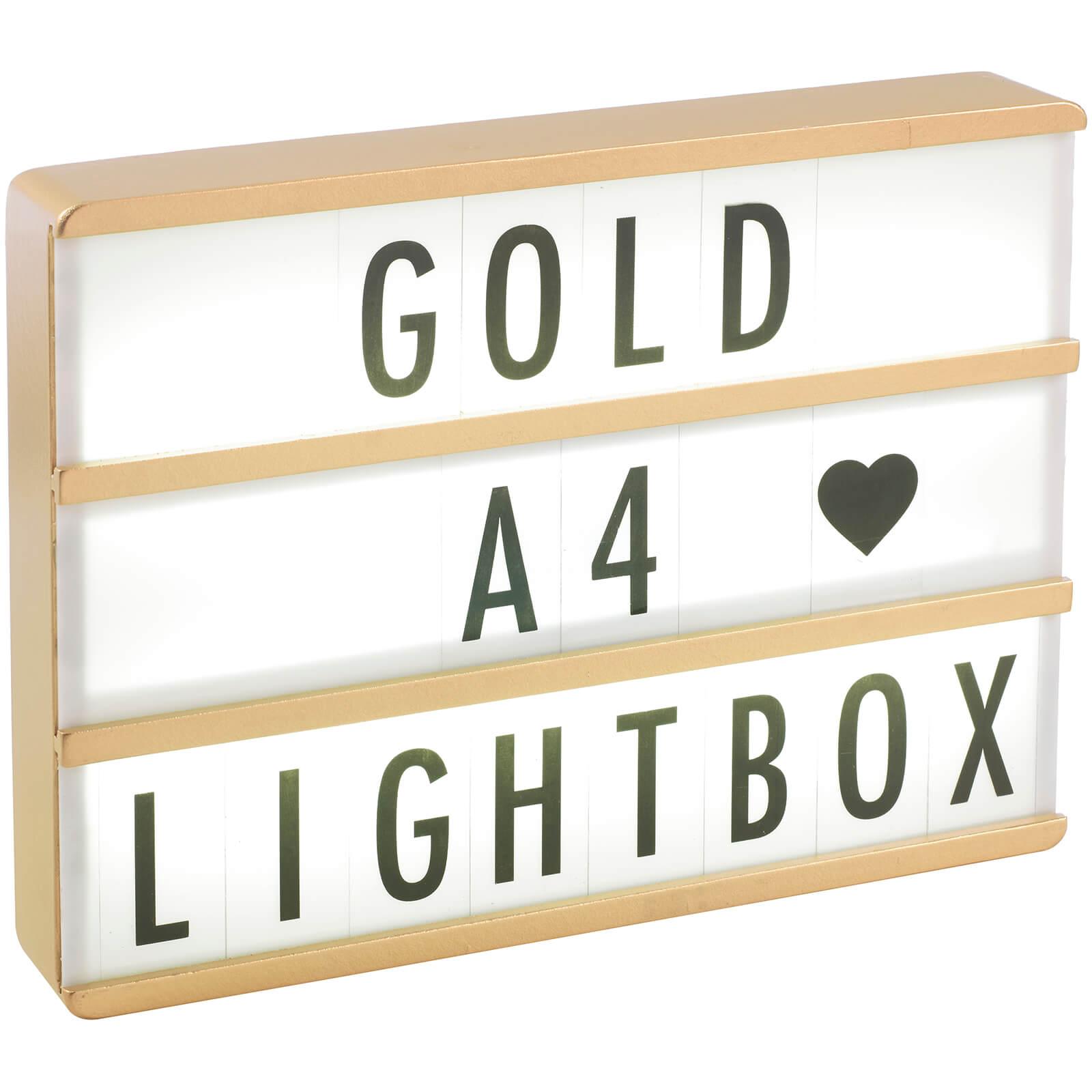 Gingersnap A4 Premium Wood Cinematic Lightbox - Gold