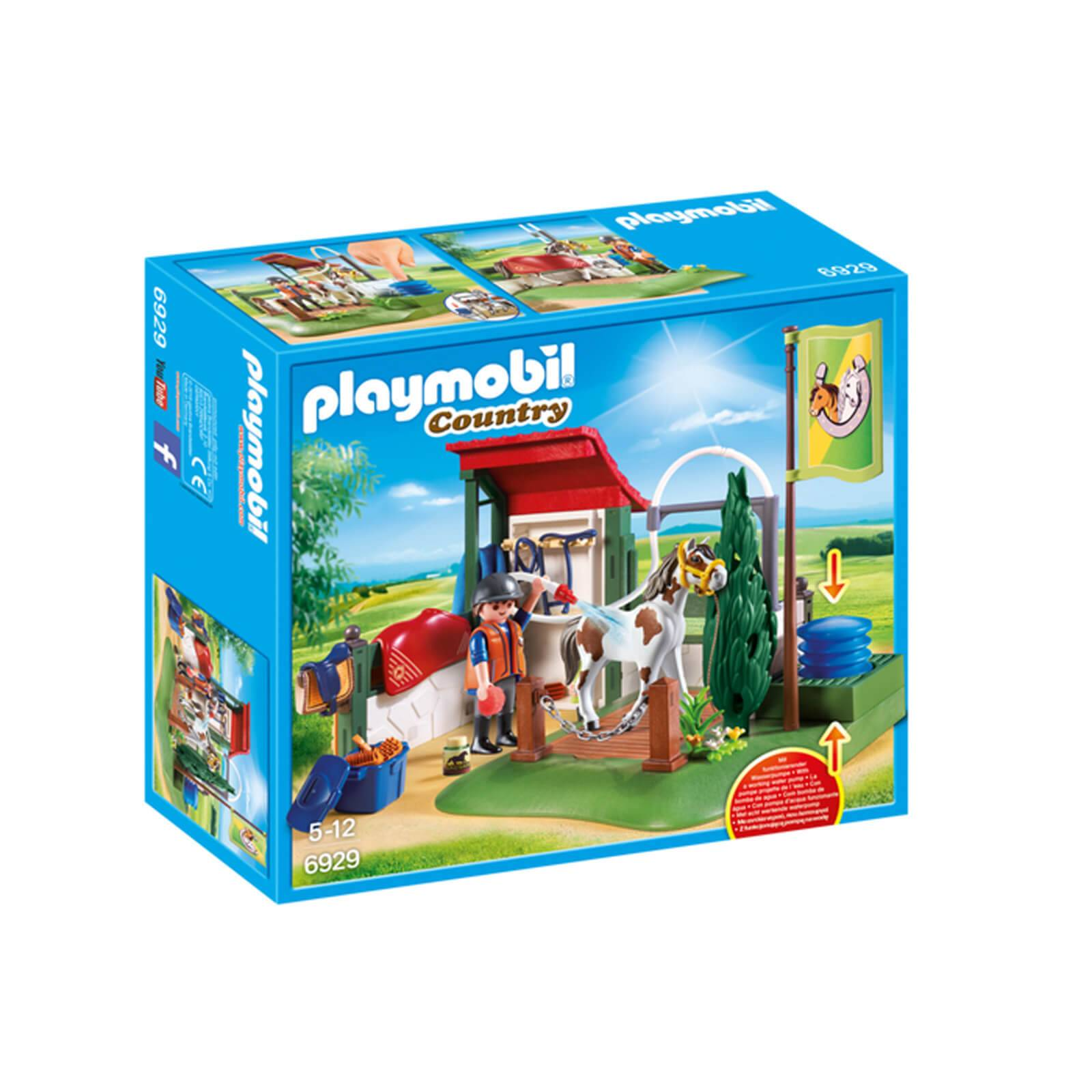 Playmobil Country Horse Grooming Station with Functional Water Pump (6929)