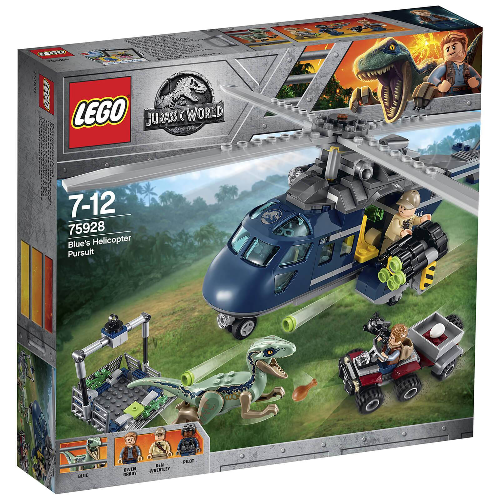 Lego Jurassic World Fallen Kingdom: Blue's Helicopter Pursuit (75928)