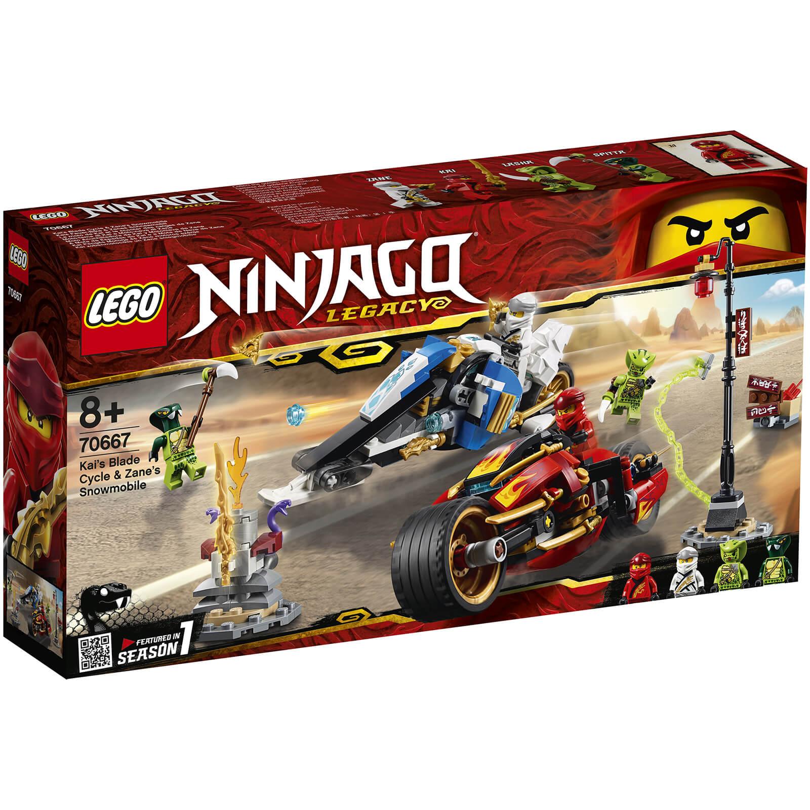 Lego Ninjago: Kai's Blade Cycle and Zane's Snowmobile (70667)