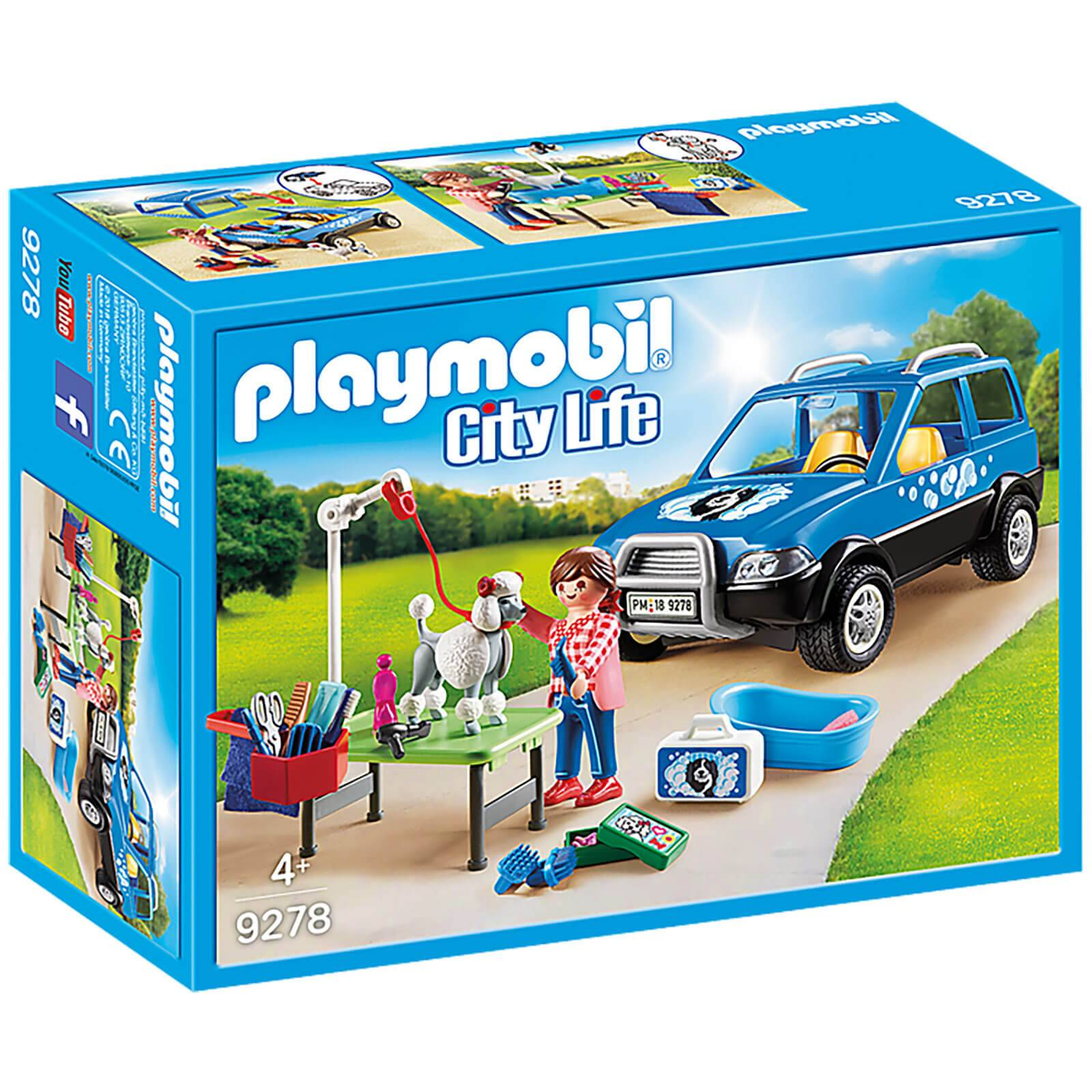 Playmobil City Life Mobile Pet Groomer with Removeable Roof (9278)