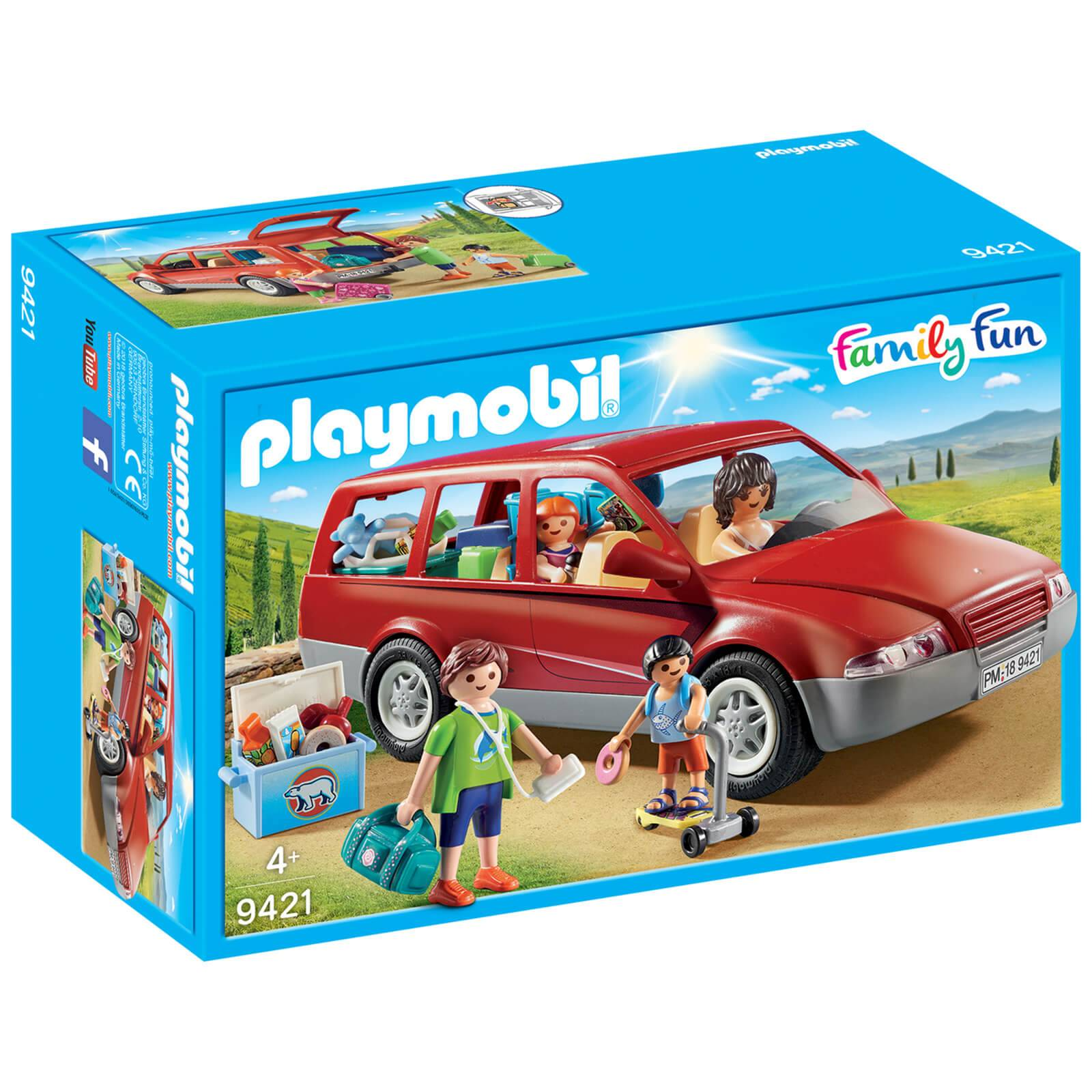 Playmobil Family Fun Family Car with Trailer Hitch (9421)