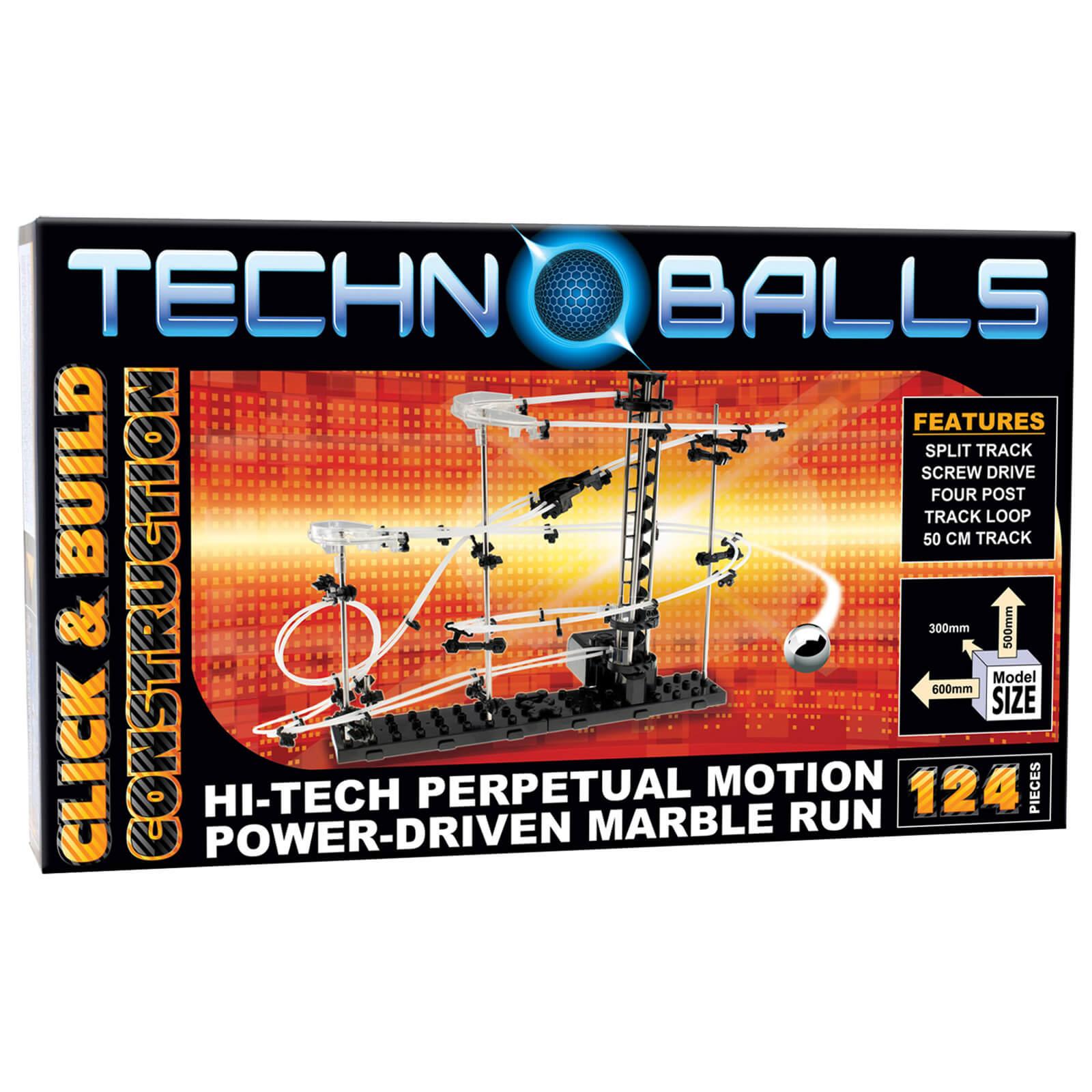 Cheatwell Games Techno Balls 129 Piece Marble Run