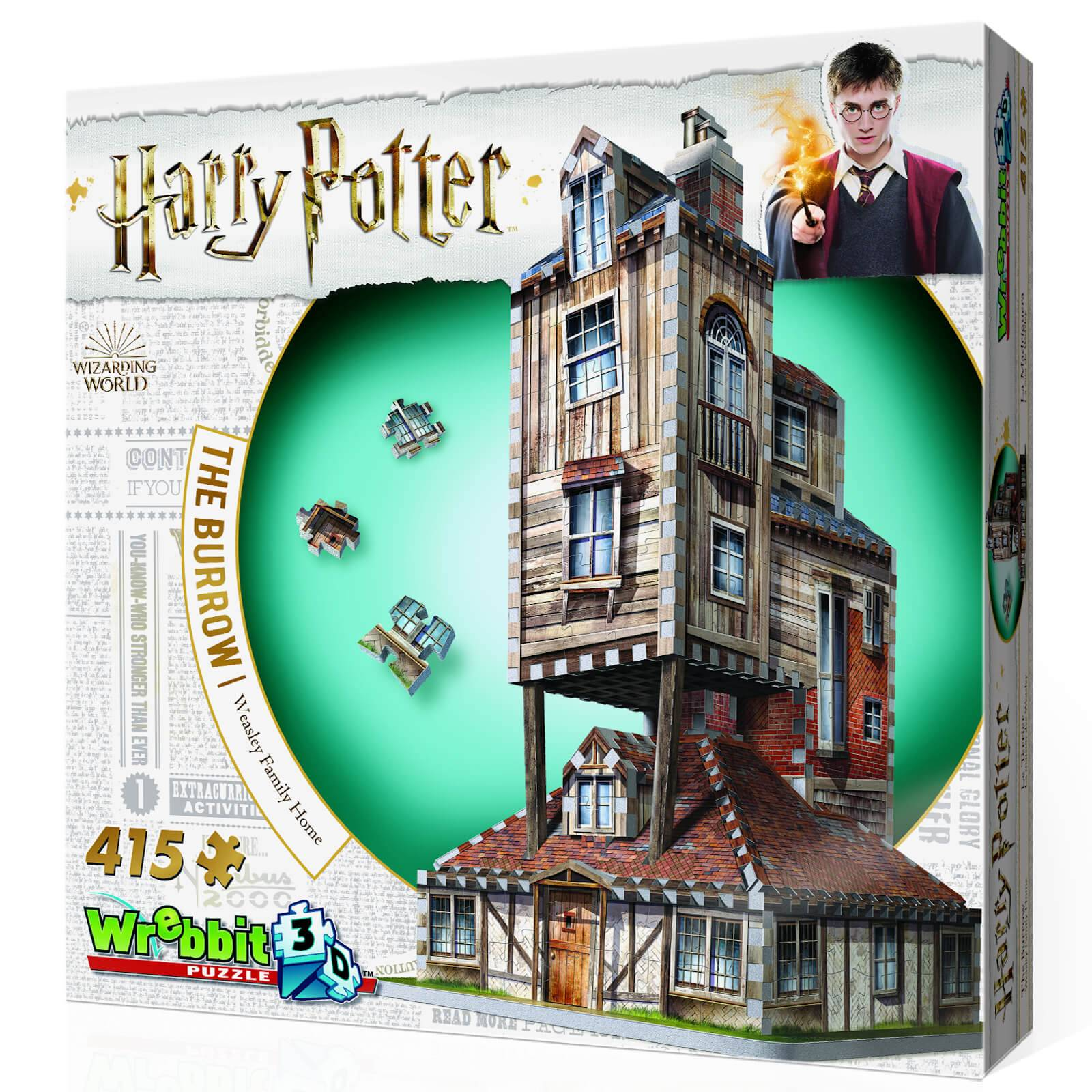Wrebbit Harry Potter The Burrow The Weasley's Family Home 3D Puzzle (415 Pieces)