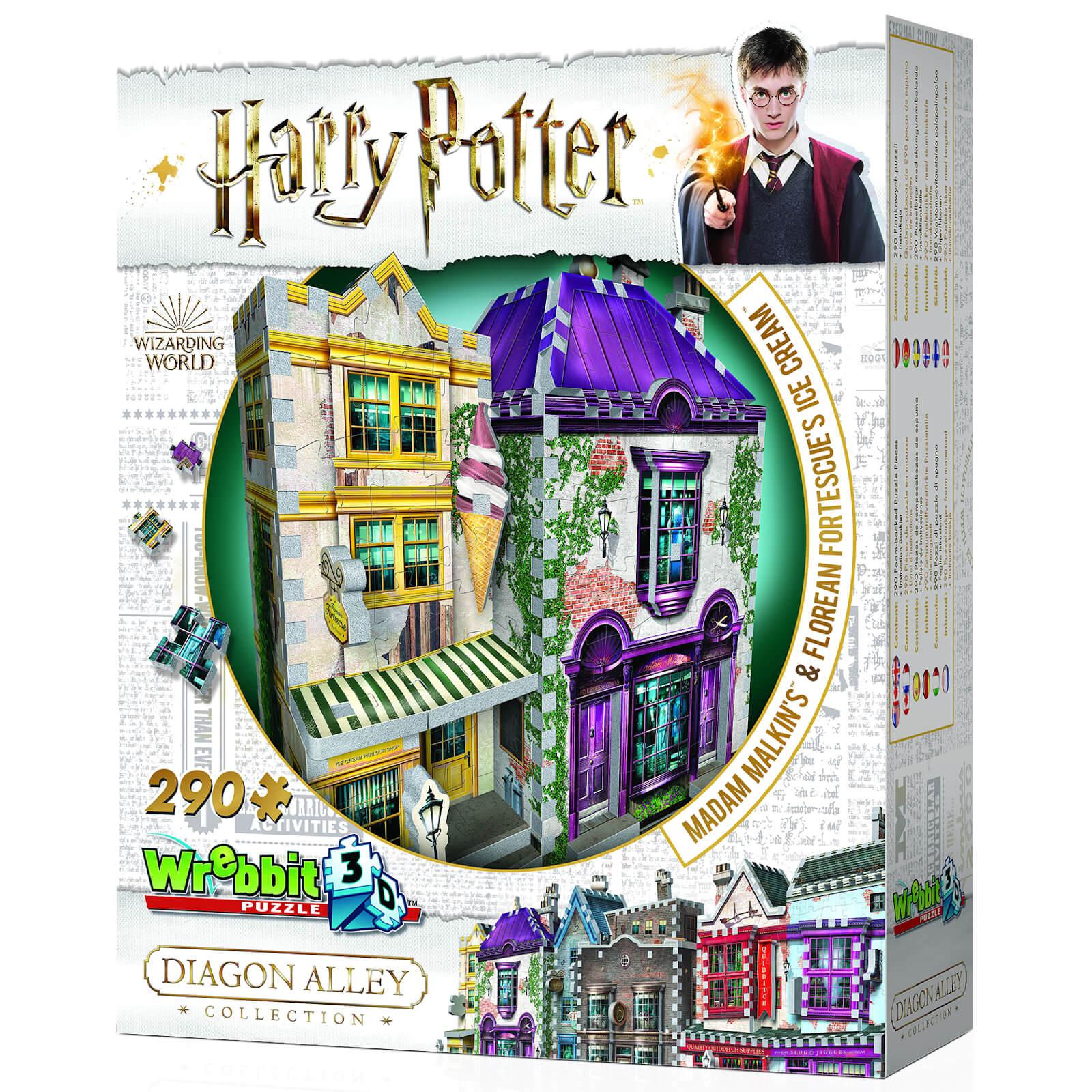 Wrebbit Harry Potter Diagon Alley Collection Madam Malkins & Florean Fortescues 3D Puzzle (290 Pieces)