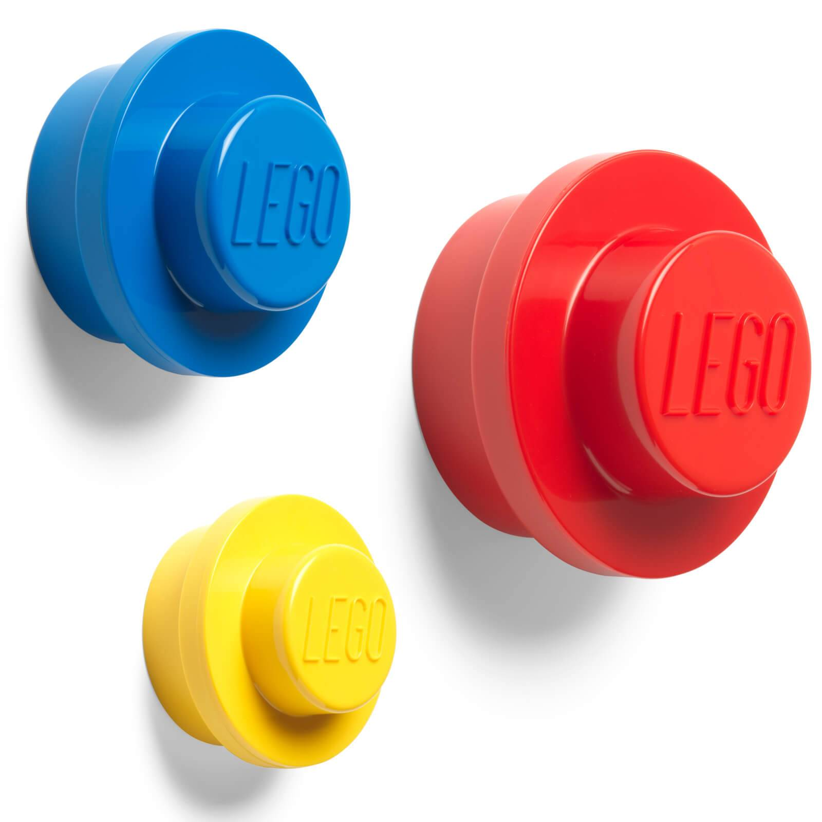 Forvara LEGO Wall Hanger Set - Red/Blue/Yellow