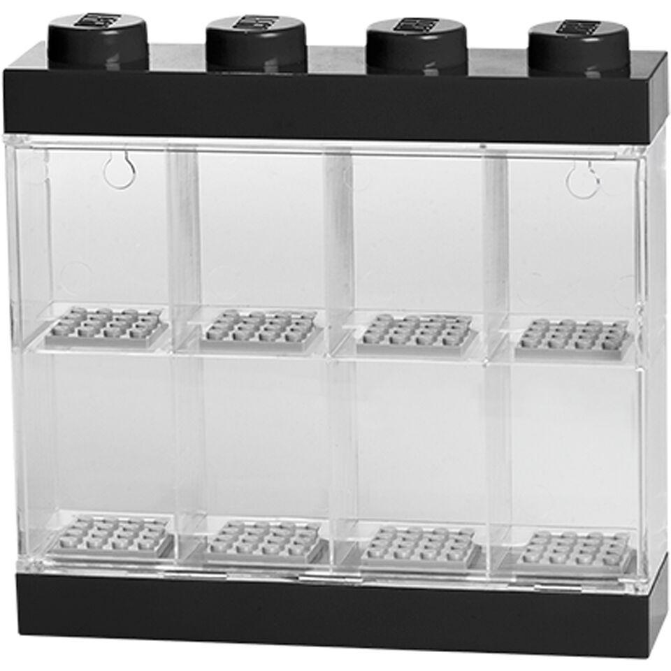 Lego Mini Figure Display (8 Minifigures) - Black