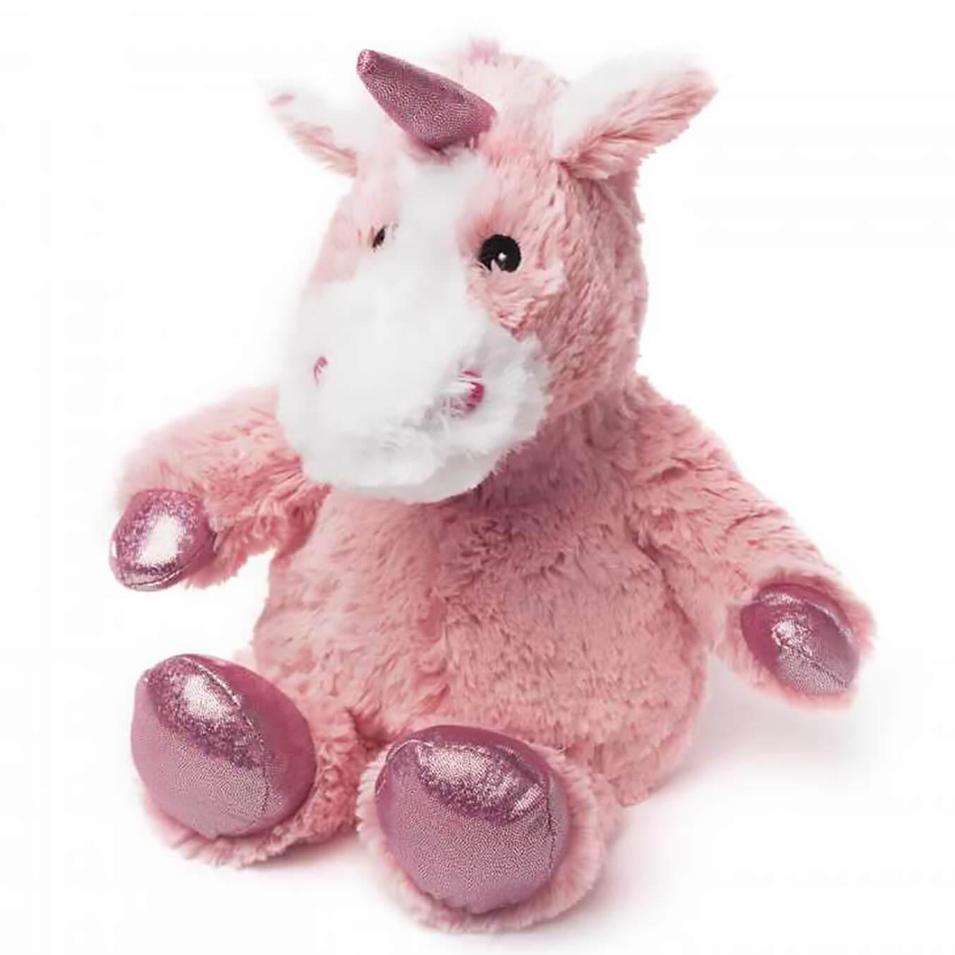 Warmies Cozy Heatable Plush Sparkly Unicorn - Pink