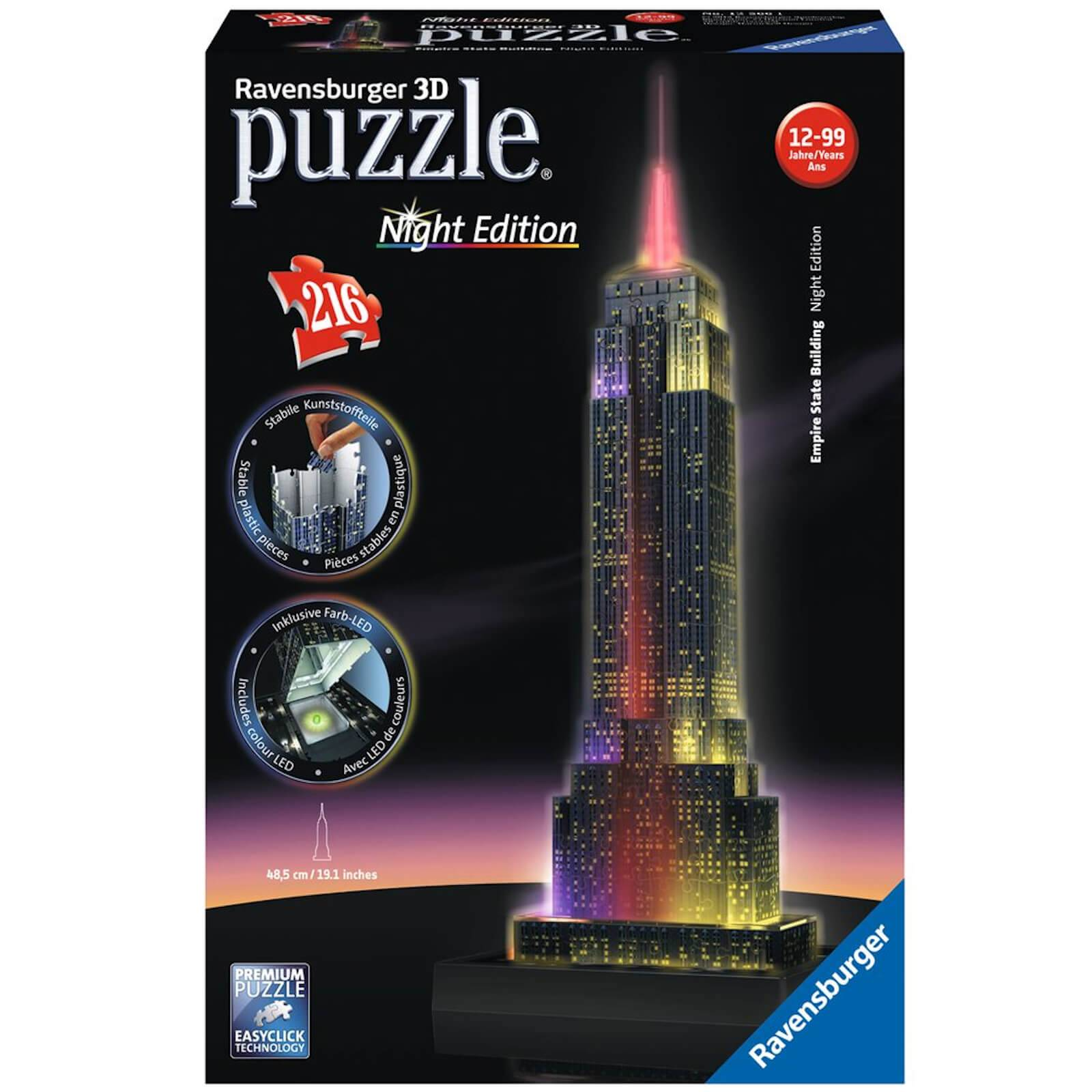 Ravensburger Empire State Building Night Edition 3D Jigsaw Puzzle (216 Pieces)