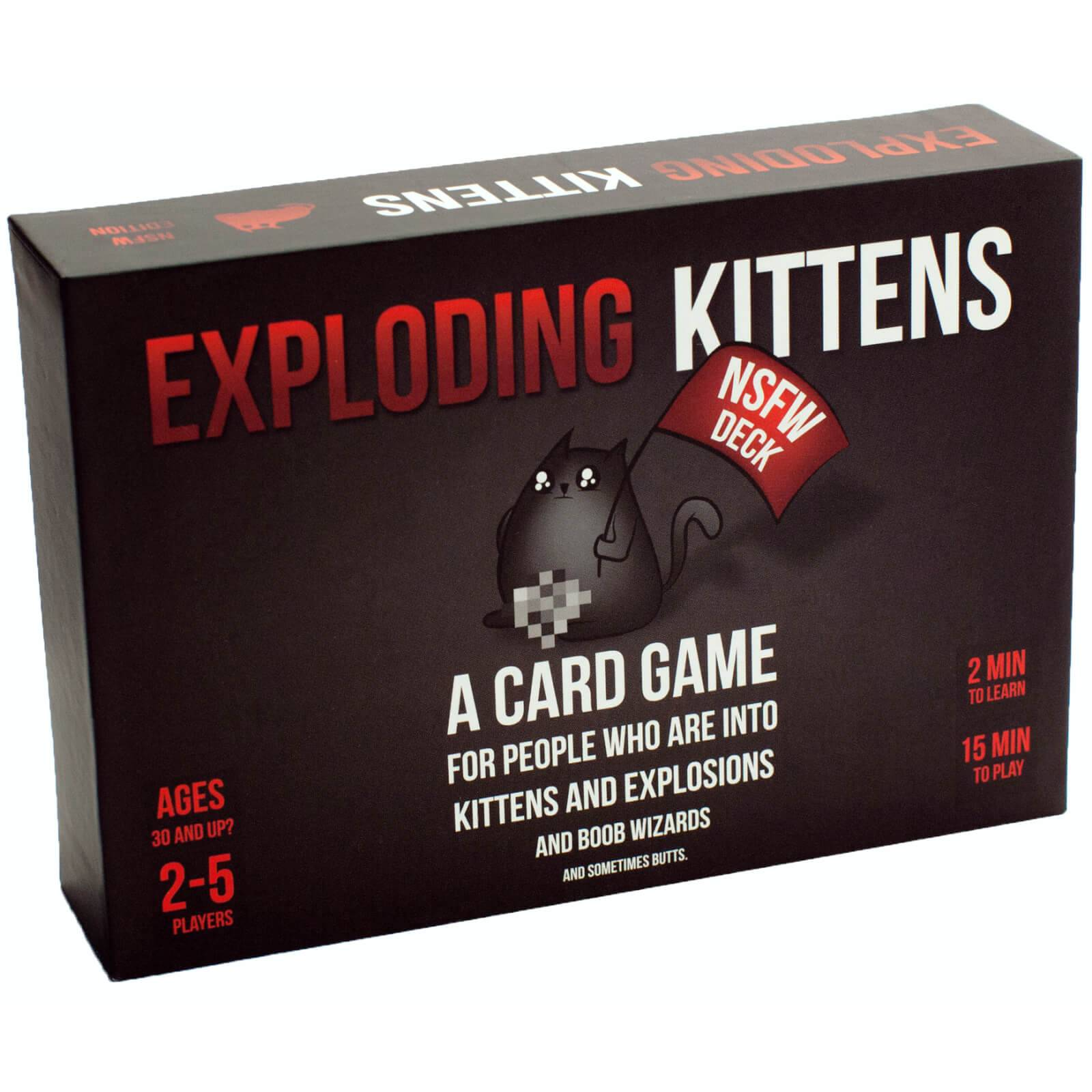 Asmodee Exploding Kittens Card Game NSFW Edition
