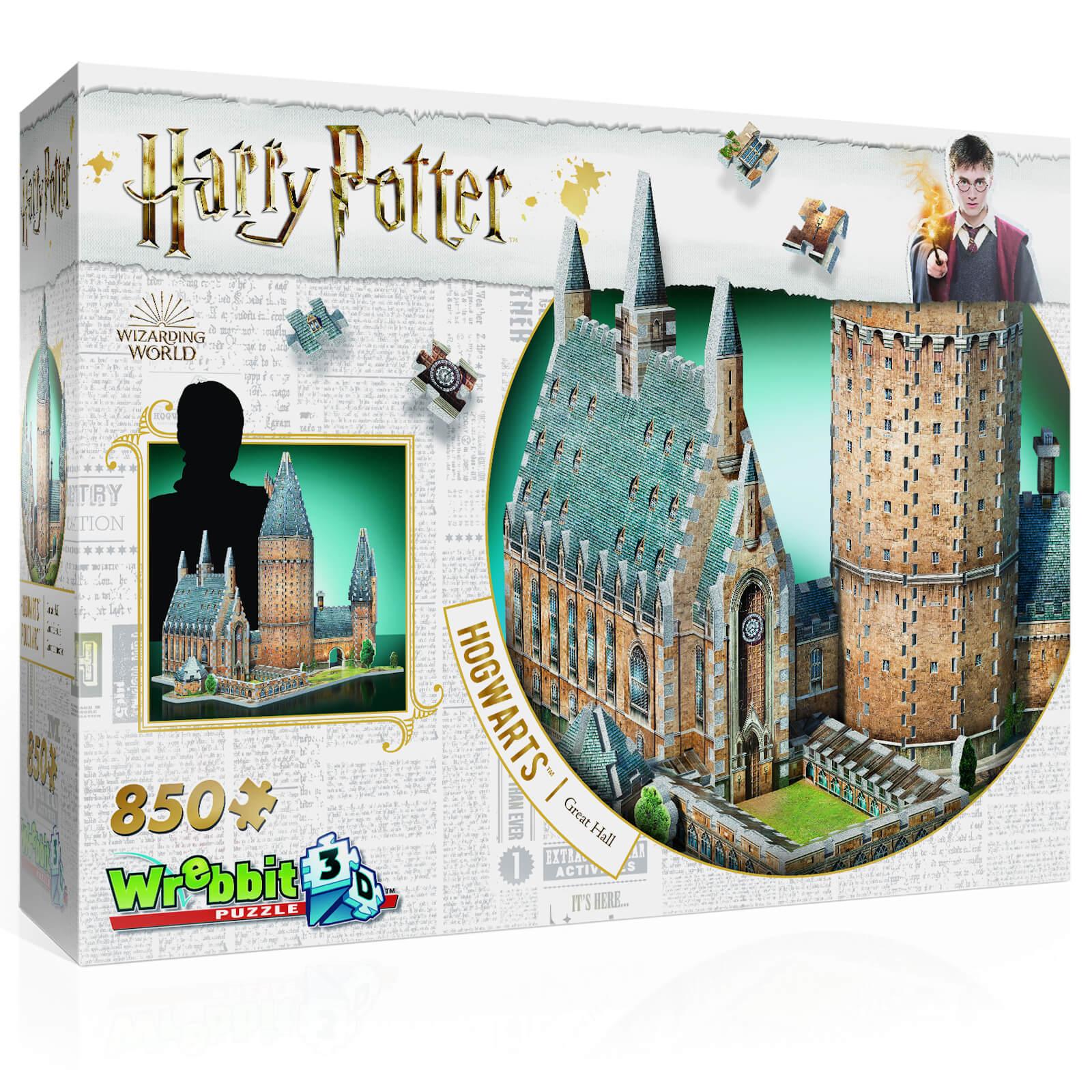 Wrebbit Harry Potter Hogwarts Great Hall 3D Puzzle (850 Pieces)