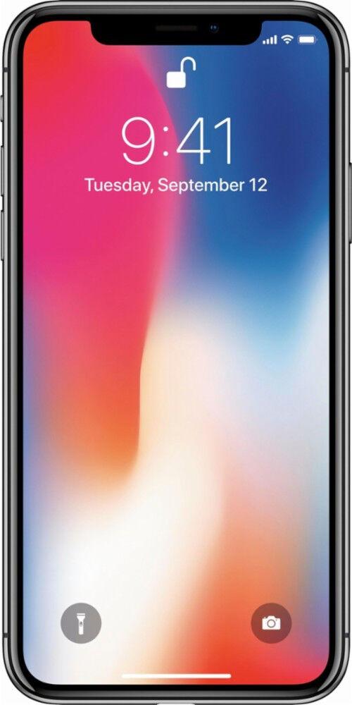 Apple iPhone X factory unlocked Black/Space Gray 64GB