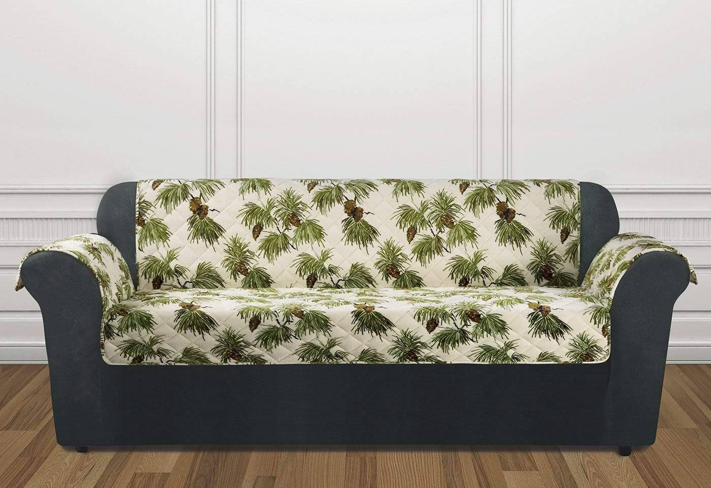Holiday Sofa Furniture Cover 100% Polyester Pet Furniture Cover Machine Washable - Sofa / Pinecone Ivory