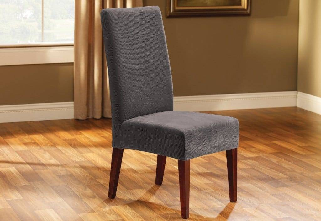 Stretch Oxford Short Dining Chair Slipcover - Dining Chair
