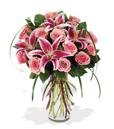 Blooms Today Sophisticated Rose & Stargazer Bouquet Flower Delivery