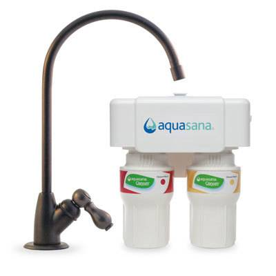 Aquasana 2-Stage Under Sink Water Filter, Oil Rubbed Bronze, 1/2 Year/500 Gallon (AQ-5200)