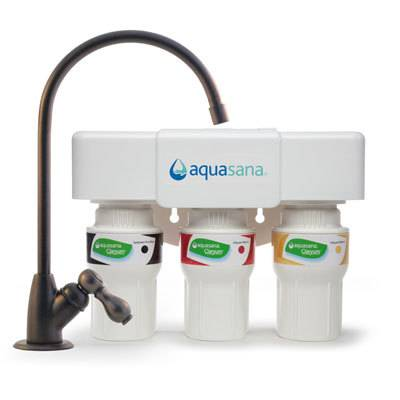 Aquasana 3-Stage Under Sink Water Filter, Oil Rubbed Bronze, 1/2 Year/600 Gallon (AQ-5300)