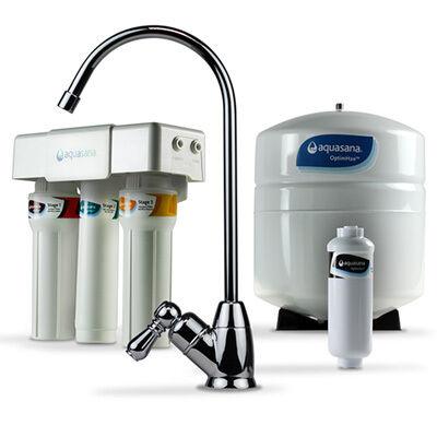 Aquasana OptimH2O Reverse Osmosis Fluoride Water Filter OptimH2O, Chrome (AQ-RO-3.56)