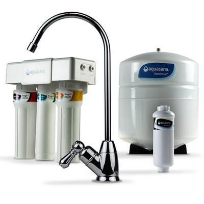 Aquasana OptimH2O® Reverse Osmosis Fluoride Water Filter, Chrome (AQ-RO)