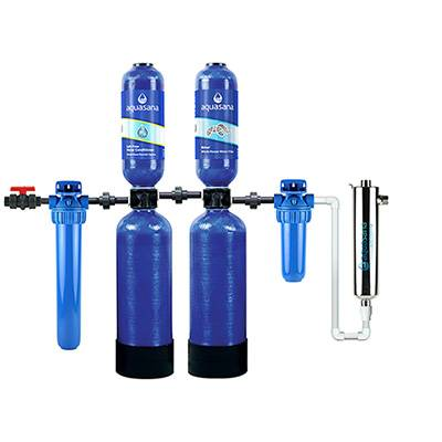 Aquasana Salt-Free Water Conditioner And Whole House Water Filter System For Home With UV Filter, 10 Year 1,000,000 Gallon (EQ-1000) Aquasana