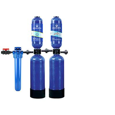 Aquasana Salt-Free Water Conditioner And Rhino Whole House Water Filter System For Home 10 Year 1,000,000 Gallon (EQ-1000) Aquasana