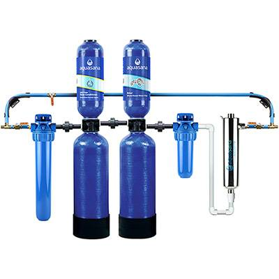Aquasana Salt-Free Conditioner And Whole House Water Filter System For Home With UV Filter, 6 Year 600,000 Gallon (EQ-600) Aquasana
