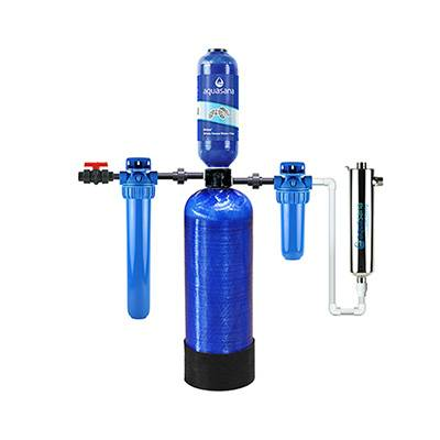 Aquasana Rhino Whole House Well Water Filter System For Home with UV Filter (EQ-WELL) Aquasana