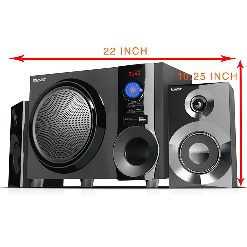 Jadmam Corp Dba Boytone Bluetooth Shelf Speaker System, Black
