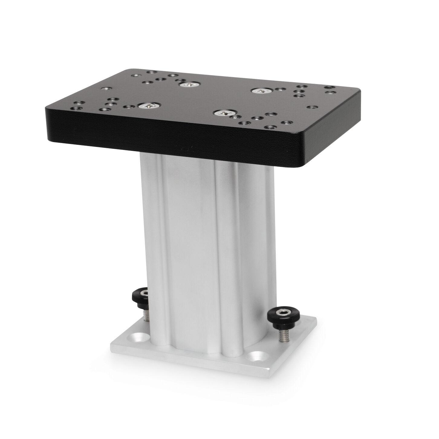 "Johnson Outdoors Aluminum Fixed Base Downrigger Pedestal, 6"""