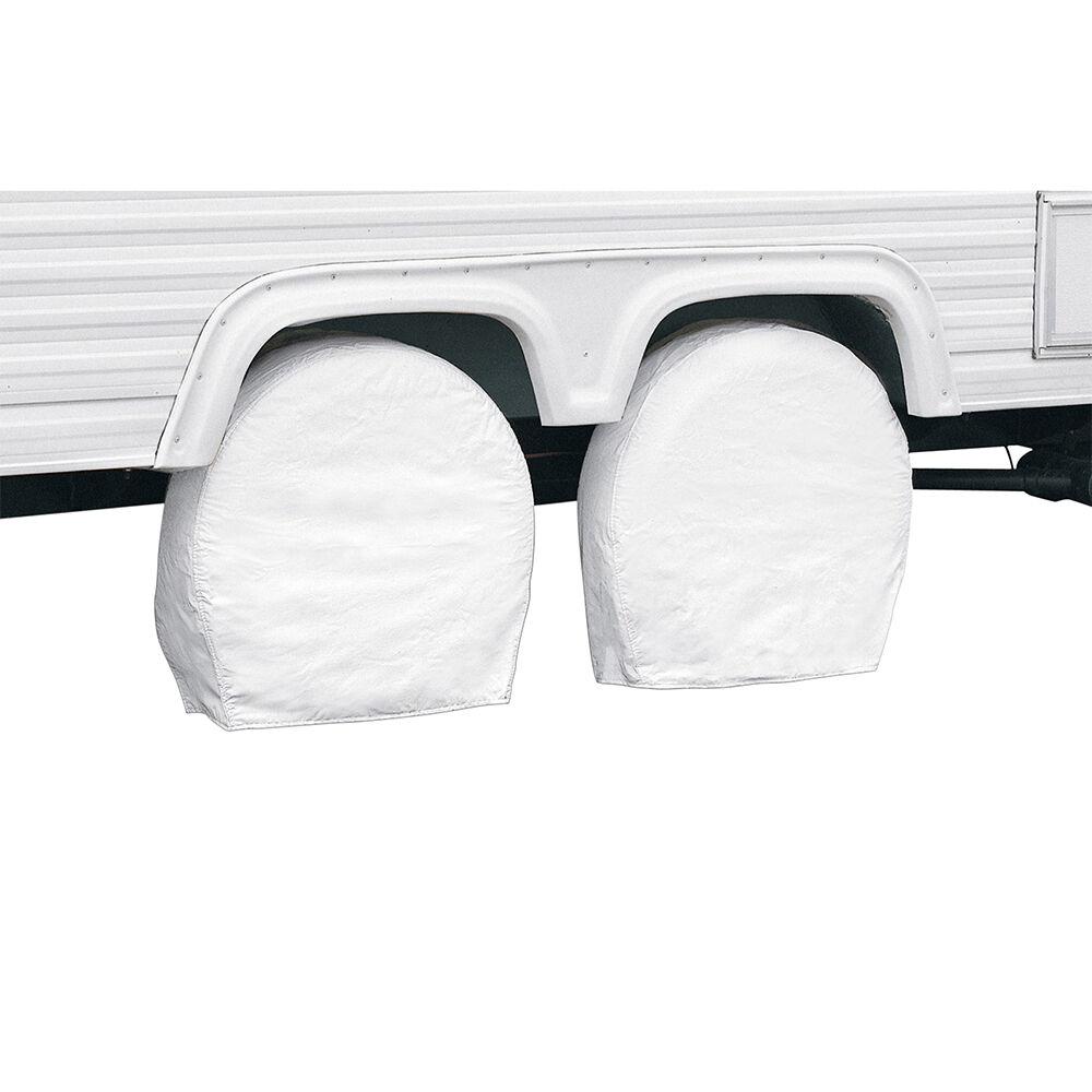 "Classic Accessories OverDrive RV Wheel Cover, Pair, Wheels 27"" - 30"" Diameter, 8.75"" Tire Width, White"