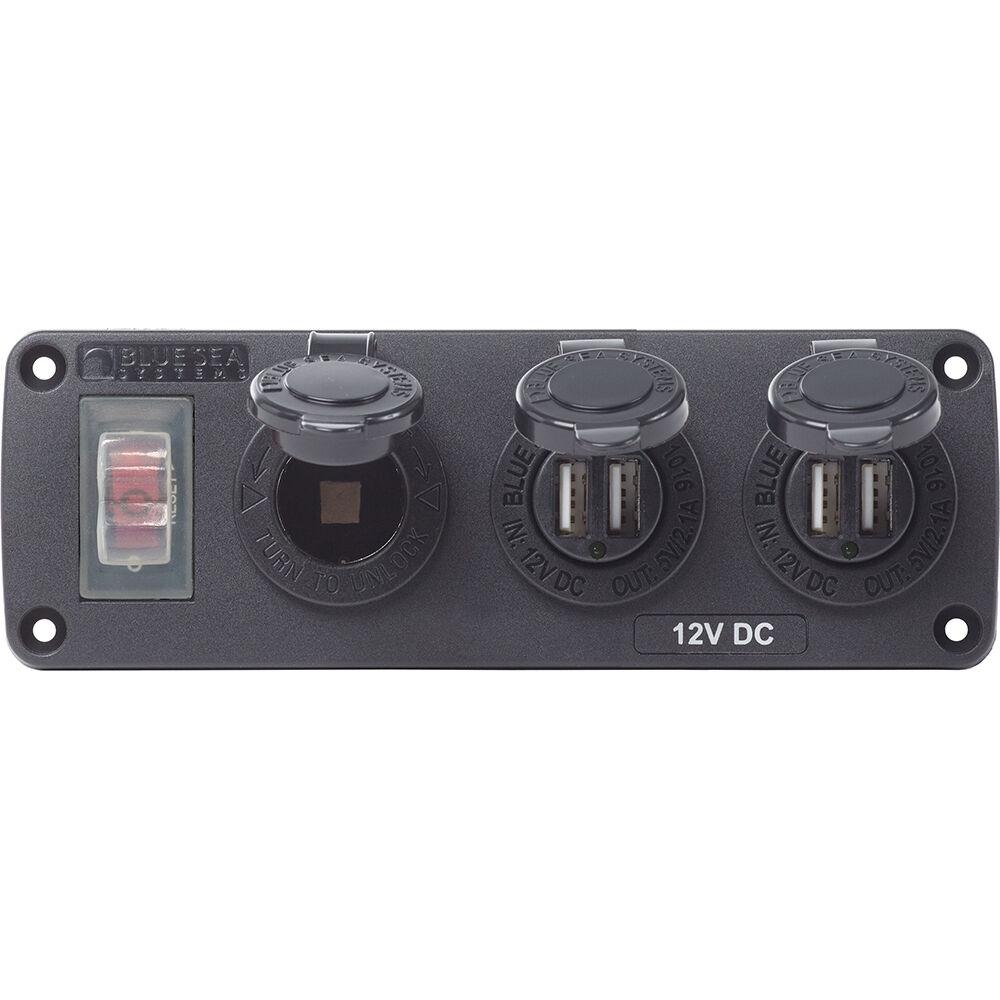 Blue Sea Systems Blue Sea 4365 USB Accessory Panel