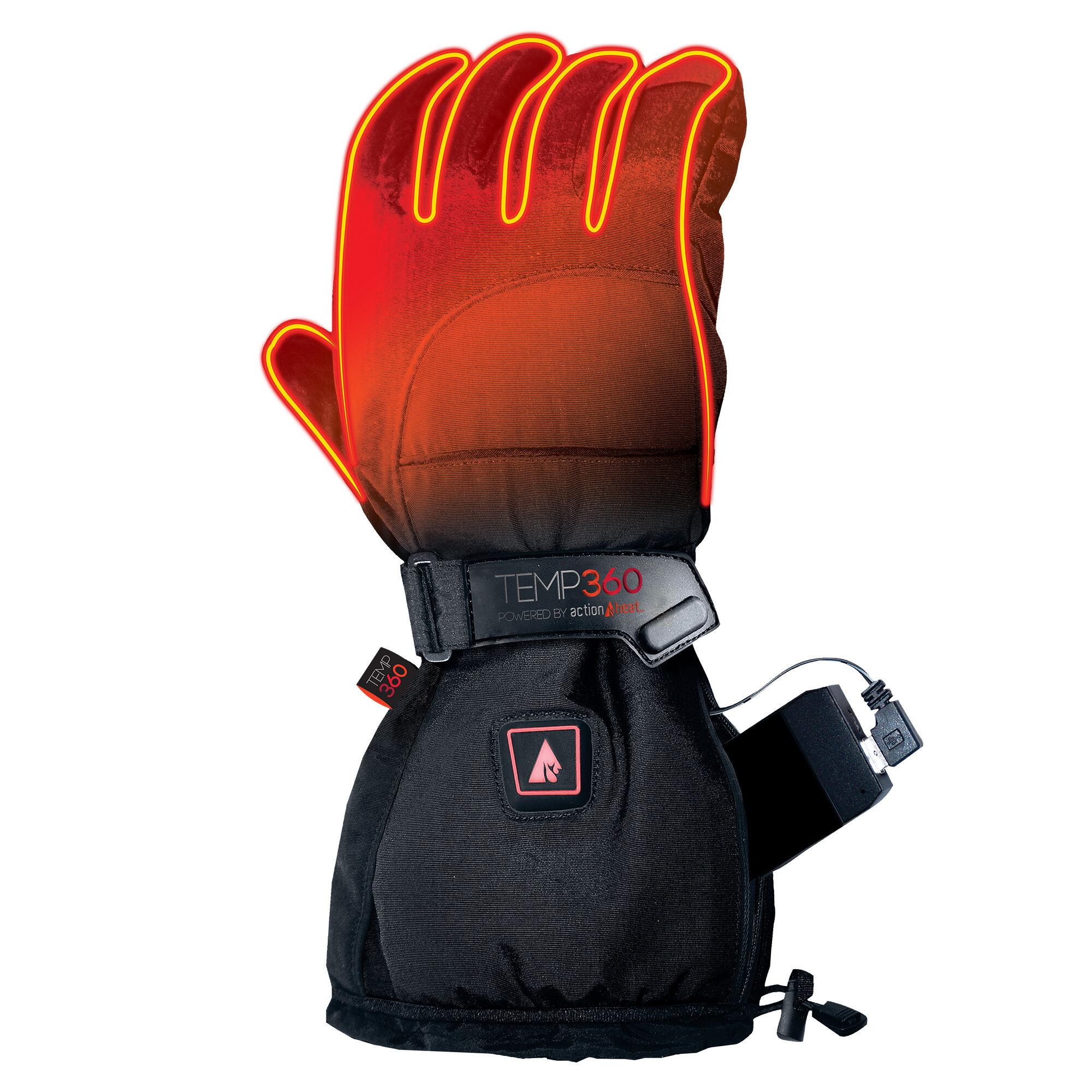 Temp 360 Temp360 Men's 5V Heated Snow Gloves