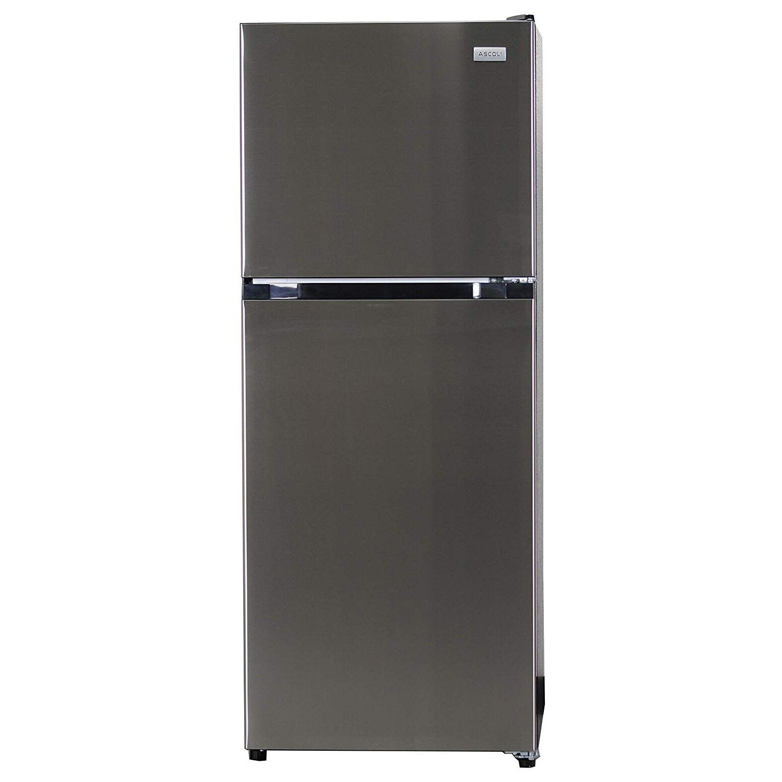 Equator Advanced Appliances Equator Ascoli 10.5 cu. ft. Refrigerator with Top Freezer, Stainless