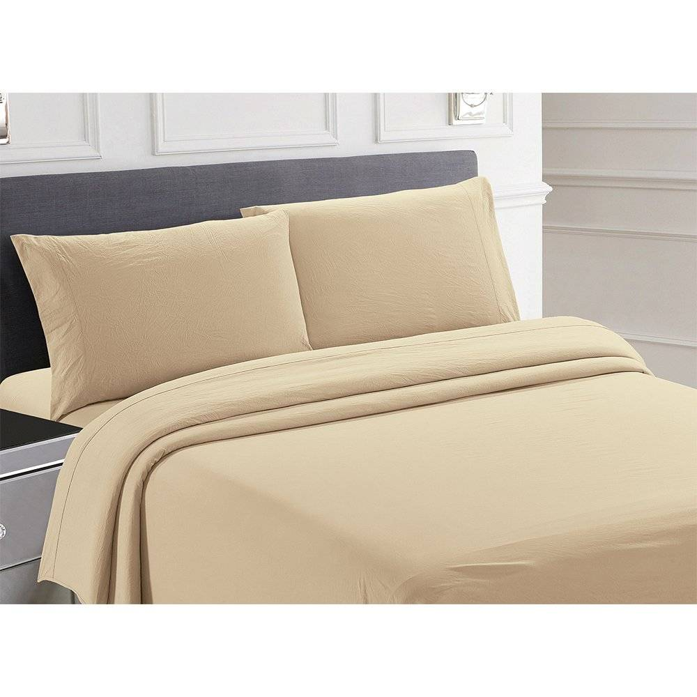 Sam Salem & Son Posh Home RV Collection Softest Sheets Ever 4-Piece Set, Queen, Tan