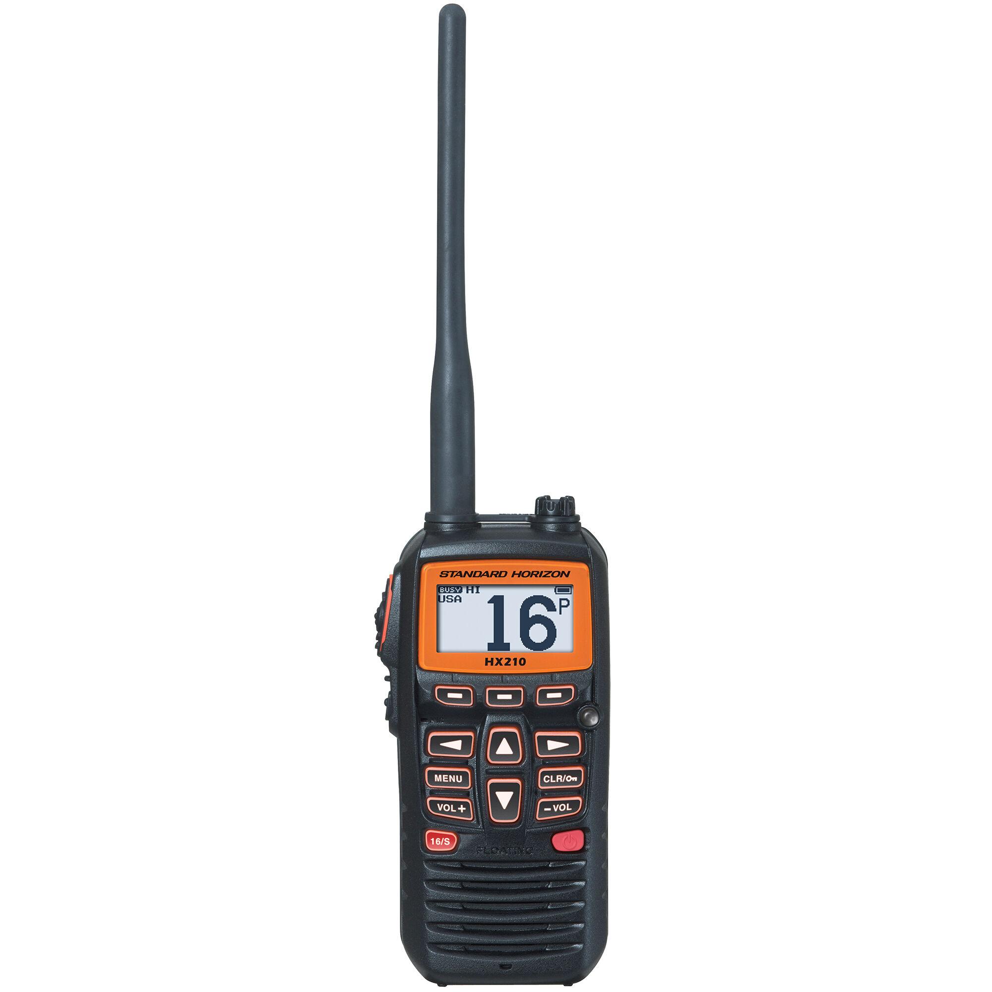 Standard Horizon HX210 Floating Handheld VHF Radio With FM Receiver
