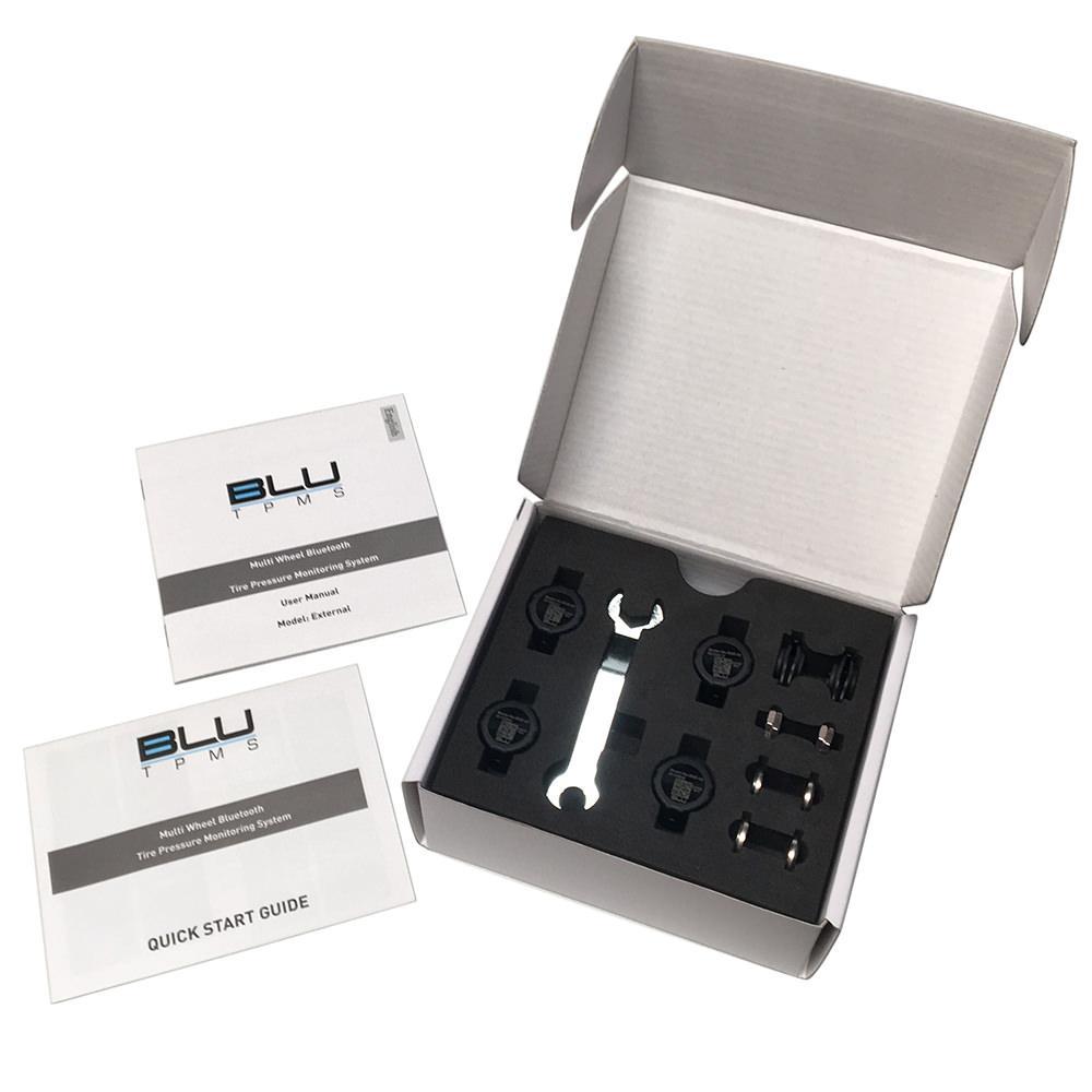 Advanced Accessory Concepts LLC BLU Tire Pressure & Temperature Monitoring System, External 1-150psi, Set of 4