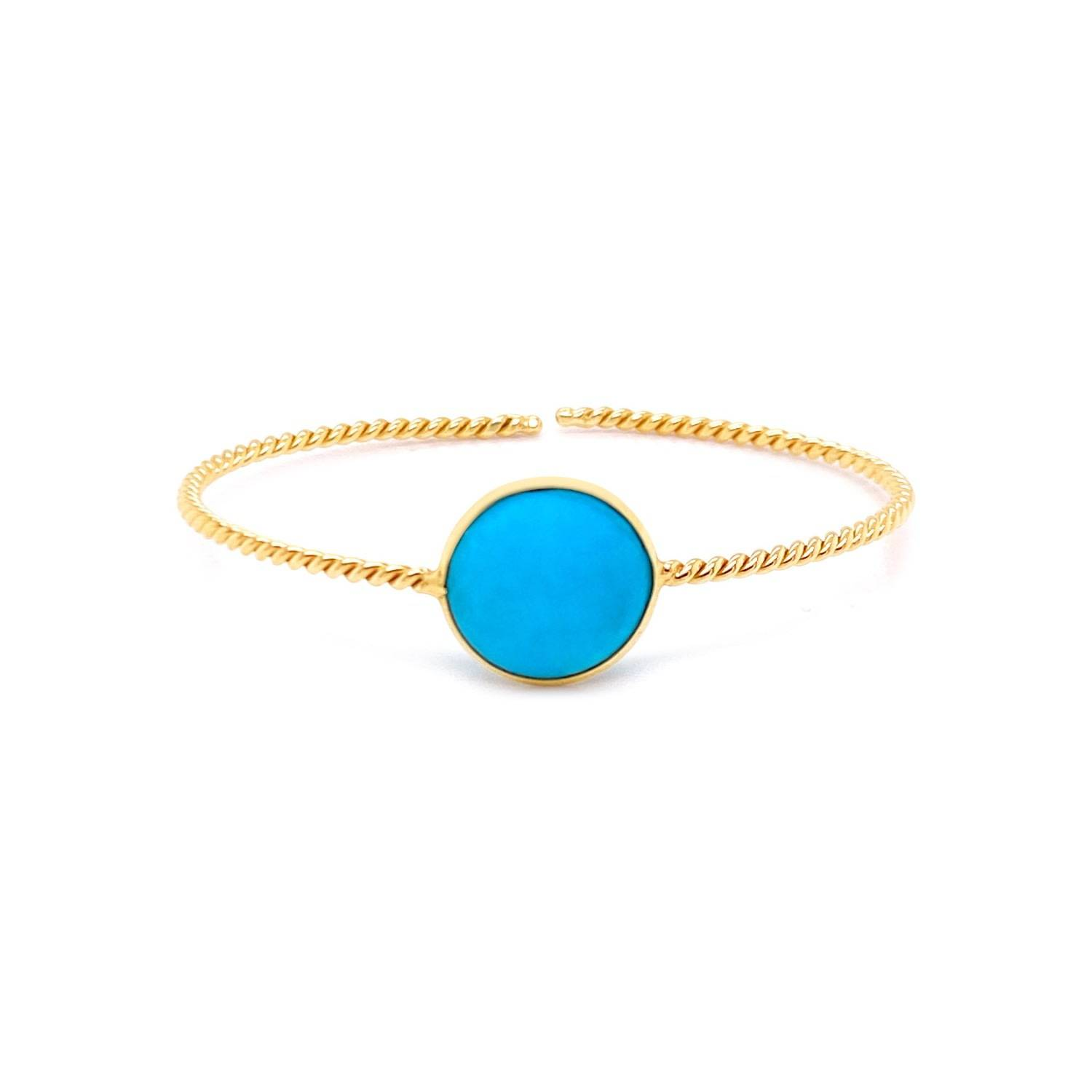 Tresor Collection - Turquoise Bangle In 18K Yellow Gold